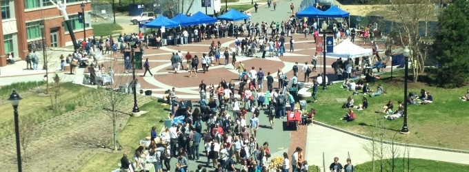 Last year's event generated heavy foot traffic as students, faculty, staff, and Mansfield community members stopped by to check out the Earth Day celebration.
