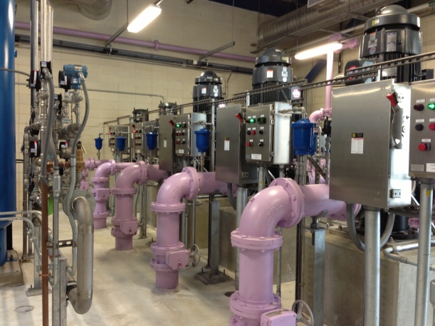 A picture from my tour of the UConn Reclaimed Water facility today