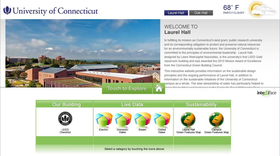 Energy Dashboard Display in Laurel Hall