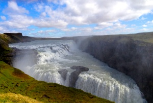 Gullfoss Waterfall, one of the attractions of the Golden Ring