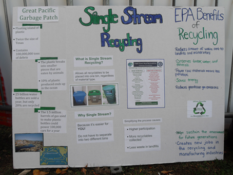 Both UConn and Hartford have single stream recycling - any recyclable can go in any bin!