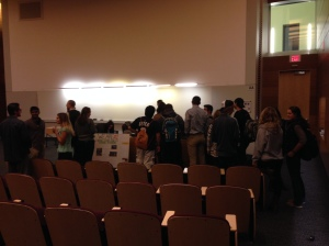 We had a great group of students stay after for our discussion of sustainability at UConn