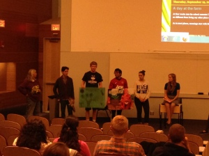Student Groups sharing their projects with the audience