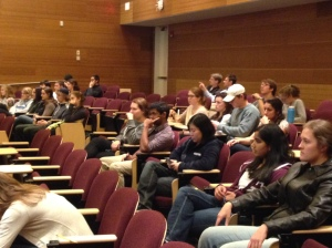 About 65 students came out to enjoy Wall-E and talk about sustainability
