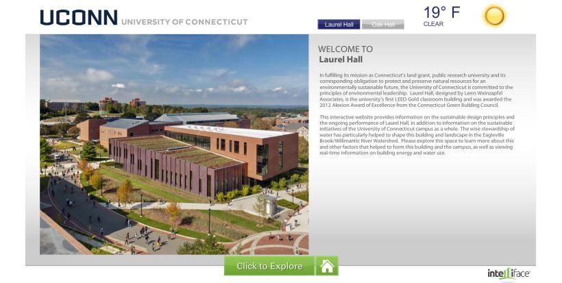 Green Touchscreen Screenshot (Laurel Hall)
