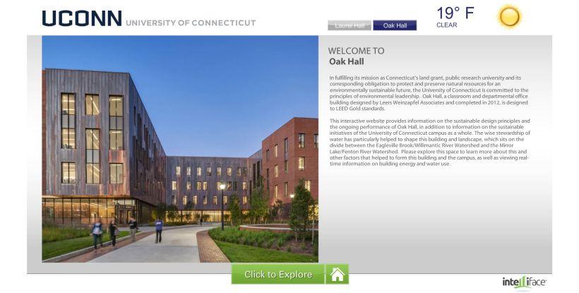 Green Touchscreen Screenshot (Oak Hall)