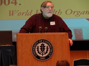 Faculty panelist Merrill Singer Photo by Eric Grulke
